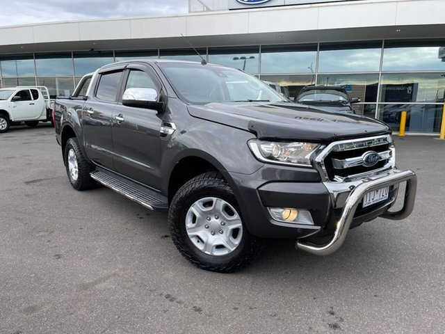 Used Ford Ranger PX MkII XLT Double Cab Essendon Fields, 2017 Ford Ranger PX MkII XLT Double Cab Grey 6 Speed Sports Automatic Utility