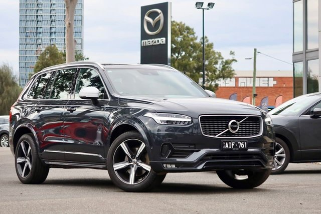 Used Volvo XC90 L Series MY16 D5 Geartronic AWD R-Design South Melbourne, 2016 Volvo XC90 L Series MY16 D5 Geartronic AWD R-Design Osmium Grey 8 Speed Sports Automatic Wagon