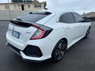2018 Honda Civic 10th Gen MY18 VTi-L White 1 Speed Constant Variable Hatchback.