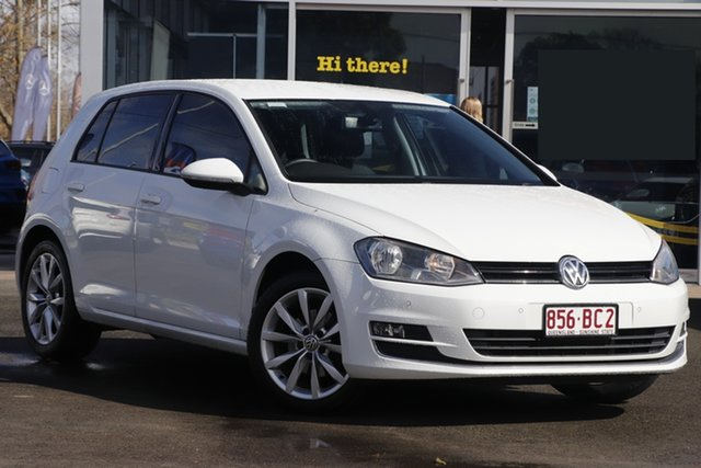 Used Volkswagen Golf VII MY16 110TSI DSG Highline Toowoomba, 2015 Volkswagen Golf VII MY16 110TSI DSG Highline White 7 Speed Sports Automatic Dual Clutch