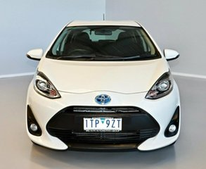 2018 Toyota Prius c NHP10R E-CVT White 1 Speed Constant Variable Hatchback Hybrid.