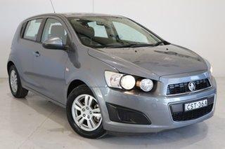 2014 Holden Barina TM MY14 CD Grey 5 Speed Manual Hatchback.