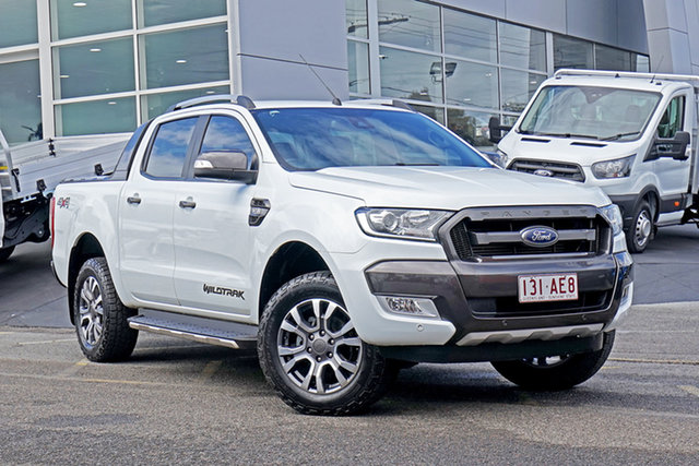 Used Ford Ranger PX MkII Wildtrak Double Cab Springwood, 2016 Ford Ranger PX MkII Wildtrak Double Cab White 6 Speed Sports Automatic Utility