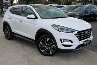 2019 Hyundai Tucson TL3 MY19 Highlander D-CT AWD White 7 Speed Sports Automatic Dual Clutch Wagon.