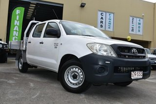 2009 Toyota Hilux TGN16R 09 Upgrade Workmate White 5 Speed Manual Dual Cab Pick-up