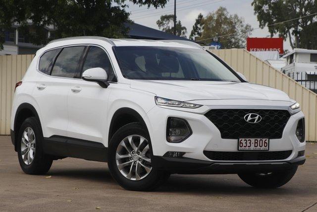 Used Hyundai Santa Fe TM MY19 Active Bundamba, 2018 Hyundai Santa Fe TM MY19 Active White 8 Speed Sports Automatic Wagon