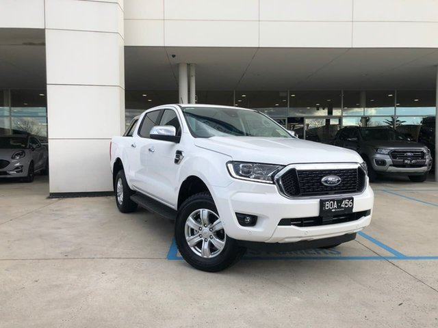 Demo Ford Ranger PX MkIII 2021.25MY XLT Oakleigh, 2021 Ford Ranger PX MkIII 2021.25MY XLT White 10 Speed Sports Automatic Double Cab Pick Up