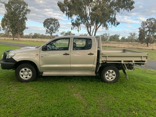 2013 Toyota Hilux KUN26R MY12 SR Double Cab Lustre 5 Speed Manual Cab Chassis