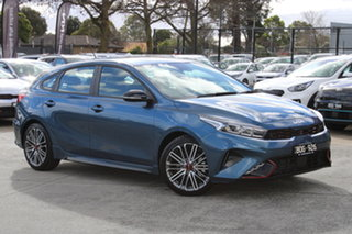 2021 Kia Cerato BD MY22 GT DCT Mineral Blue 7 Speed Sports Automatic Dual Clutch Hatchback.