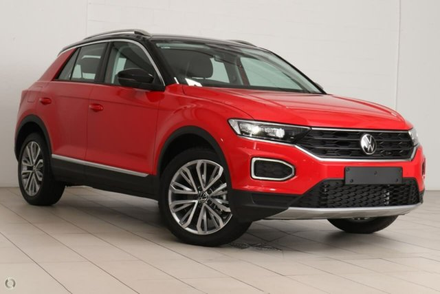 Demo Volkswagen T-ROC A1 MY21 110TSI Style Berwick, 2021 Volkswagen T-ROC A1 MY21 110TSI Style Red 8 Speed Sports Automatic Wagon