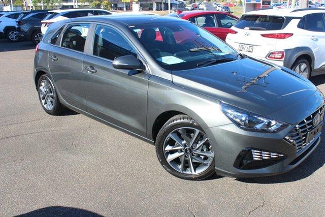 New Hyundai i30 PD.V4 MY21 Active North Gosford, 2021 Hyundai i30 PD.V4 MY21 Active Iron Grey 6 Speed Sports Automatic Hatchback