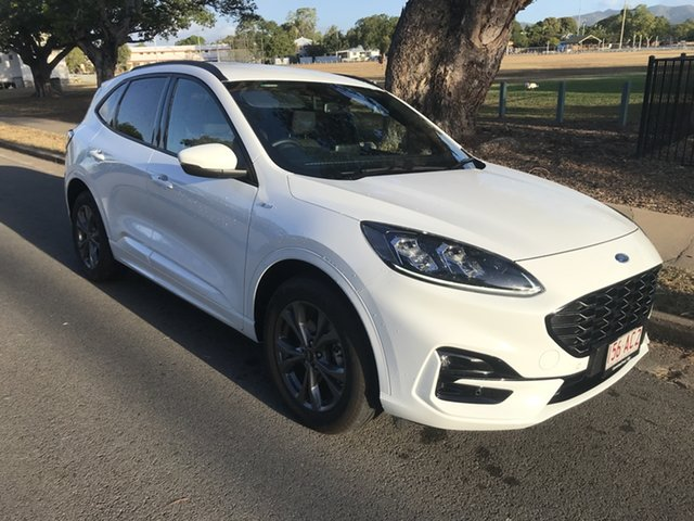 Used Ford Escape ZH 2021.25MY ST-Line Townsville, 2020 Ford Escape ZH 2021.25MY ST-Line Frozen White 8 Speed Sports Automatic SUV