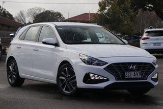 2020 Hyundai i30 PD.V4 MY21 Active White 6 Speed Sports Automatic Hatchback.
