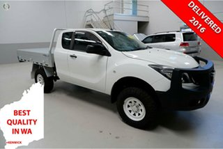 2015 Mazda BT-50 UP0YF1 XT Freestyle 4x2 Hi-Rider White 6 Speed Sports Automatic Cab Chassis.