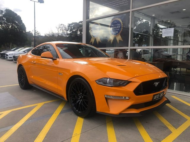 Used Ford Mustang FN 2019MY GT Berwick, 2018 Ford Mustang FN 2019MY GT Orange 10 Speed Sports Automatic Fastback
