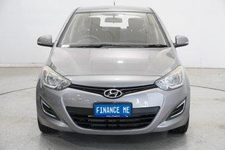 2013 Hyundai i20 PB MY13 Active Ember Grey 4 Speed Automatic Hatchback.