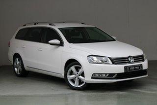 2014 Volkswagen Passat Type 3C MY15 118TSI DSG White 7 Speed Sports Automatic Dual Clutch Wagon.