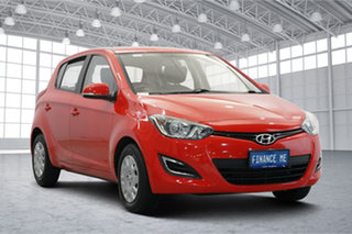 2014 Hyundai i20 PB MY14 Active Electric Red 6 Speed Manual Hatchback.