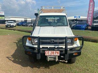 1999 Toyota Landcruiser HZJ78R Troopcarrier White 5 Speed Manual Wagon.