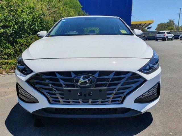New Hyundai i30 PD.V4 MY21 Active Mount Gravatt, 2021 Hyundai i30 PD.V4 MY21 Active Polar White 6 Speed Sports Automatic Hatchback