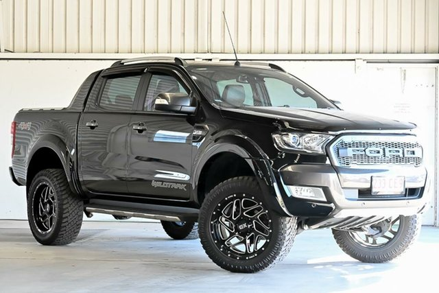 Used Ford Ranger PX MkII 2018.00MY Wildtrak Double Cab Laverton North, 2018 Ford Ranger PX MkII 2018.00MY Wildtrak Double Cab Black 6 Speed Sports Automatic Utility