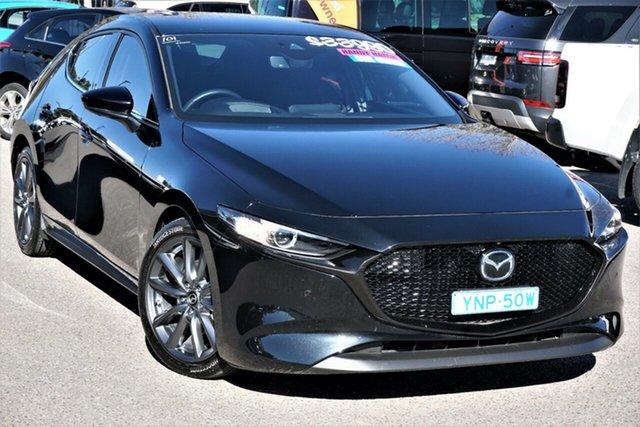 Used Mazda 3 BP2HLA G25 SKYACTIV-Drive GT Phillip, 2019 Mazda 3 BP2HLA G25 SKYACTIV-Drive GT Black 6 Speed Sports Automatic Hatchback