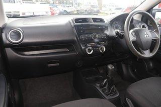 2014 Mitsubishi Mirage LA MY15 ES Silver 5 Speed Manual Sedan