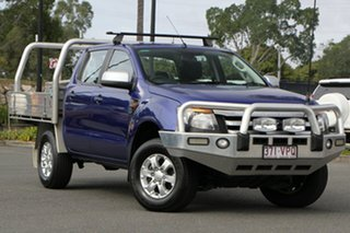 2015 Ford Ranger PX XLS Double Cab Blue 6 Speed Manual Utility.