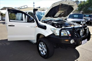 2011 Toyota Hilux KUN26R MY12 SR Double Cab White 5 Speed Manual Utility