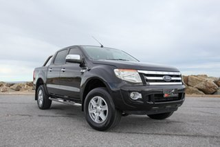 2012 Ford Ranger PX XLT Double Cab 4x2 Hi-Rider Black 6 Speed Sports Automatic Utility.