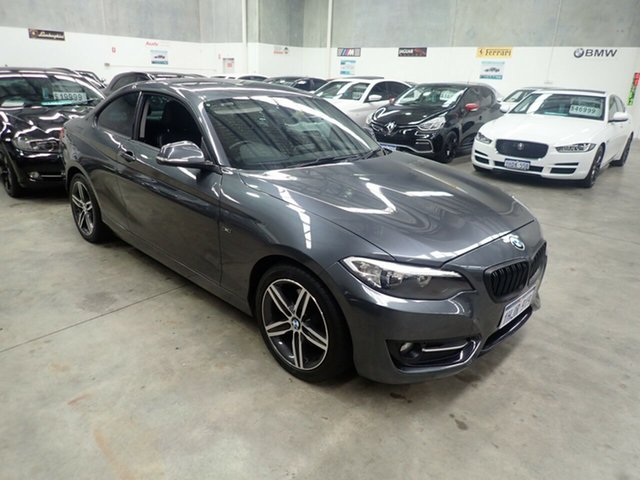 Used BMW 220i F22 MY15 Sport Line Wangara, 2014 BMW 220i F22 MY15 Sport Line Grey Shadow 8 Speed Automatic Coupe