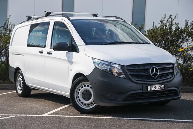 Certified Pre-Owned Mercedes-Benz Vito 447 119BlueTEC Crew Cab MWB 7G-Tronic + Mulgrave, 2018 Mercedes-Benz Vito 447 119BlueTEC Crew Cab MWB 7G-Tronic + Arctic White 7 Speed