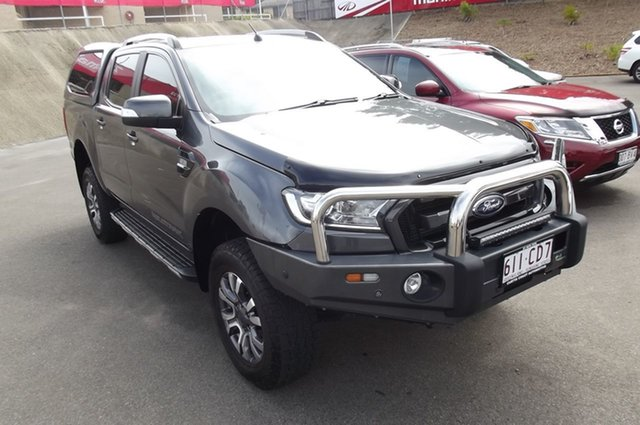 Used Ford Ranger PX MkII 2018.00MY Wildtrak Double Cab South Gladstone, 2017 Ford Ranger PX MkII 2018.00MY Wildtrak Double Cab Grey 6 Speed Manual Utility