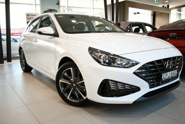 Demo Hyundai i30 PD.V4 MY21 Active Brookvale, 2021 Hyundai i30 PD.V4 MY21 Active Polar White 6 Speed Sports Automatic Hatchback