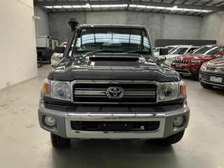 2021 Toyota Landcruiser VDJ79R GXL Double Cab Grey 5 Speed Manual Cab Chassis.