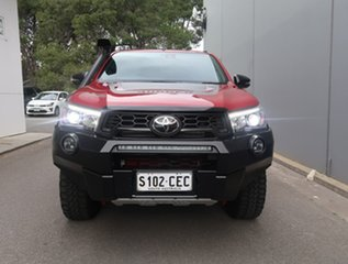 2019 Toyota Hilux GUN126R Rugged X Double Cab Red 6 Speed Sports Automatic Utility