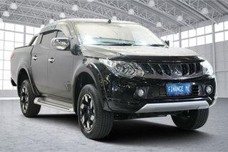 2018 Mitsubishi Triton MQ MY18 Exceed Double Cab Black 5 Speed Sports Automatic Utility.