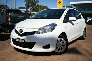 2013 Toyota Yaris NCP131R YRS White 4 Speed Automatic Hatchback.