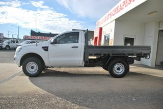 2014 Ford Ranger PX XL 2.2 Hi-Rider (4x2) White 6 Speed Automatic Cab Chassis.
