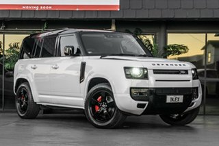 2021 Land Rover Defender L663 21MY 110 D300 AWD HSE White 8 Speed Sports Automatic Wagon.