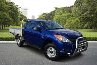 2014 Mazda BT-50 UP0YF1 XT Freestyle Blue 6 Speed Sports Automatic Cab Chassis.
