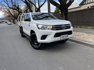 2016 Toyota Hilux GUN126R SR Double Cab White 6 Speed Manual Utility.