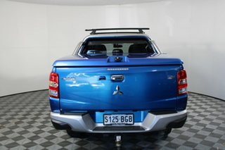 2015 Mitsubishi Triton MQ MY16 Exceed Double Cab Impulse Blue 5 Speed Sports Automatic Utility