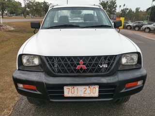 2004 Mitsubishi Triton MK MY04 GLX 4x2 White 4 Speed Automatic Cab Chassis.