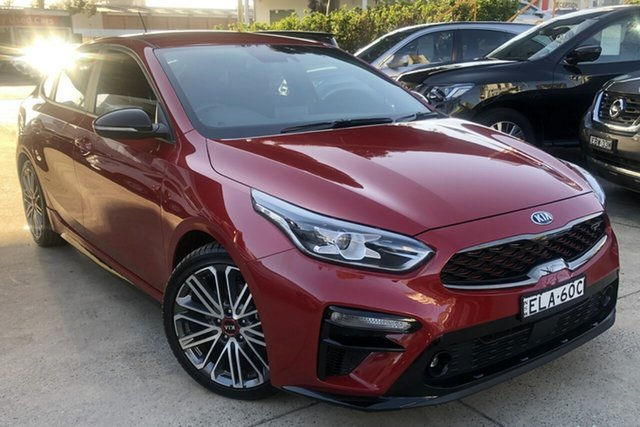 Used Kia Cerato BD MY20 GT DCT Zetland, 2020 Kia Cerato BD MY20 GT DCT Red 7 Speed Sports Automatic Dual Clutch Hatchback