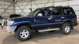 2001 Toyota Landcruiser FZJ105R GXL Blue 4 Speed Automatic Wagon.