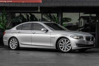 2011 BMW 5 Series F10 MY0311 520d Steptronic Silver 8 Speed Automatic Sedan.