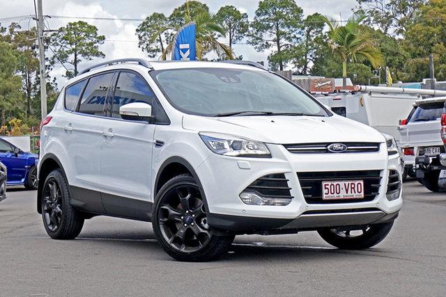 Used Ford Kuga TF MY15 Titanium AWD Chandler, 2015 Ford Kuga TF MY15 Titanium AWD White 6 Speed Sports Automatic Wagon
