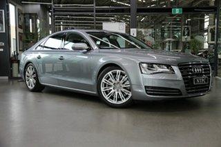 2011 Audi A8 4H L Tiptronic Quattro Silver 8 Speed Sports Automatic Sedan.
