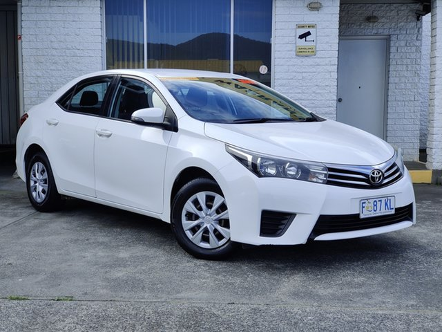 Used Toyota Corolla ZRE172R Ascent S-CVT Derwent Park, 2016 Toyota Corolla ZRE172R Ascent S-CVT White 7 Speed Constant Variable Sedan